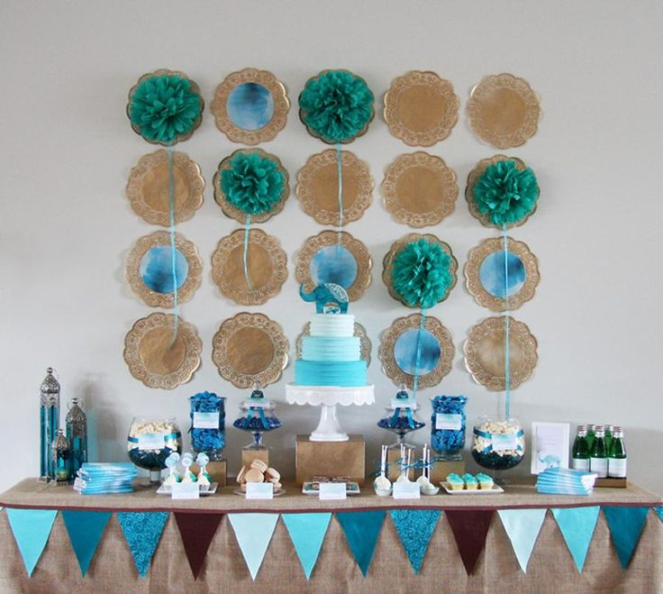 Moroccan Elephant Baby Shower