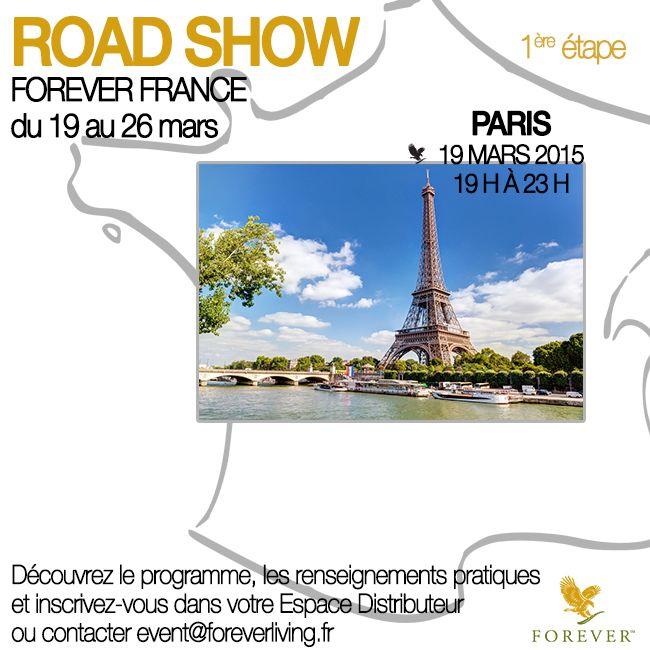 Ne manquez pas cette soirée inoubliable à PARIS le 19 mars à partir de 19 h !  Rendez-vous dans votre Espace Distributeur sur www.foreverliving.fr, ou contactez event@foreverliving.fr pour plus d'infos.