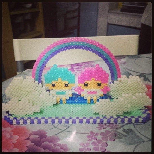 Little Twin Stars perler beads by shirley117