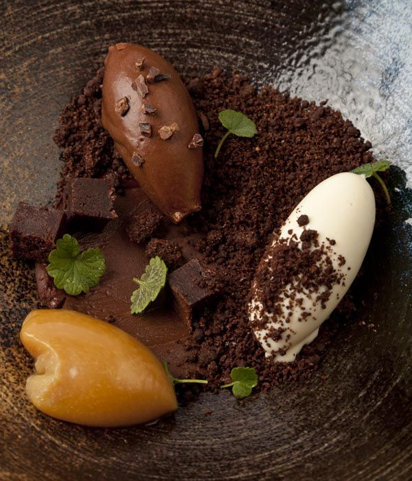 This lavish chocolate dessert from Paul Foster manages to be both extravagant and natural at the same time.
