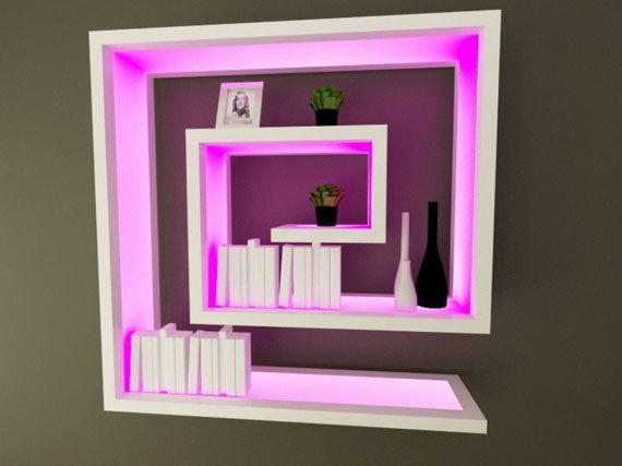 11 best back lit bar shelves images on Pinterest | Living room ...