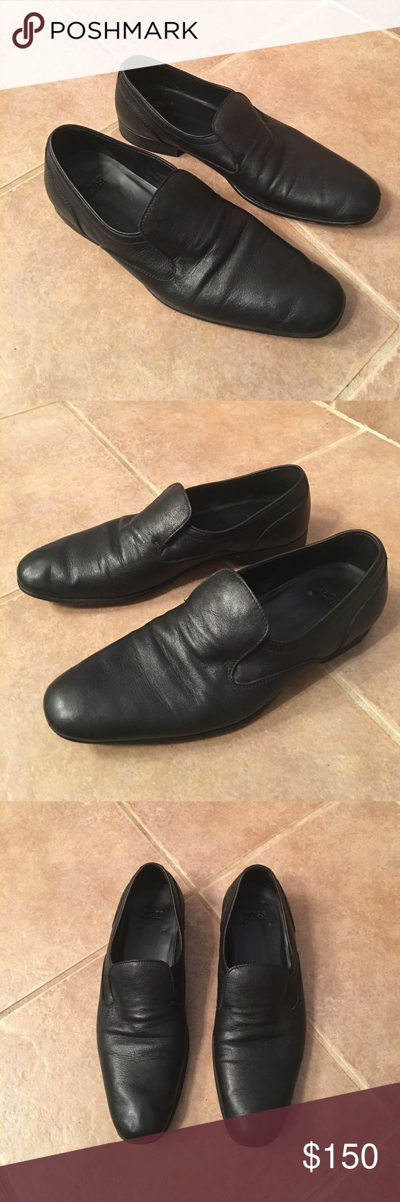 Hugo Boss men's slip on loafers EUC with wear and tear as pictured Hugo Boss Shoes Loafers & Slip-Ons