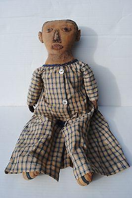 "Folk Art Primitive Doll 25"" By Norma Schneeman Signed 1994 ..."