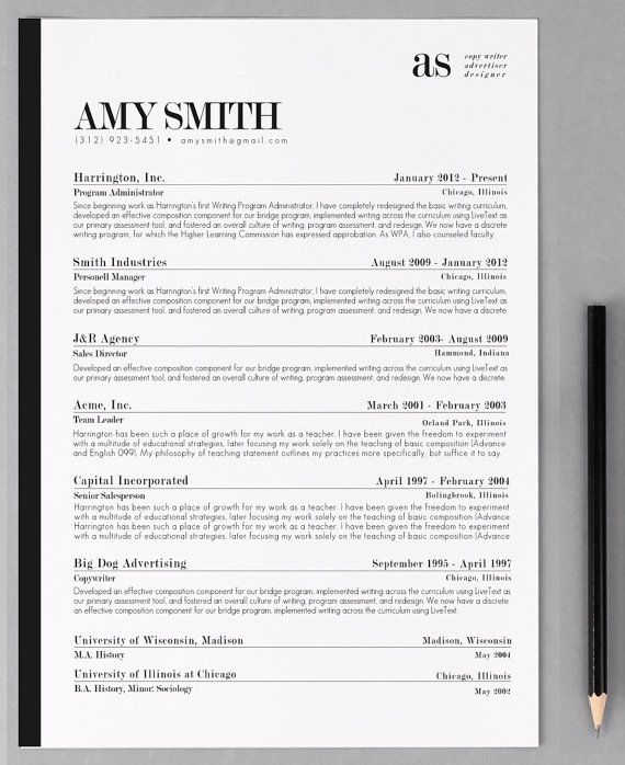 Resume Template Cover Letter Template The Sara By Phdpress: 8 Best CV Template Images On Pinterest