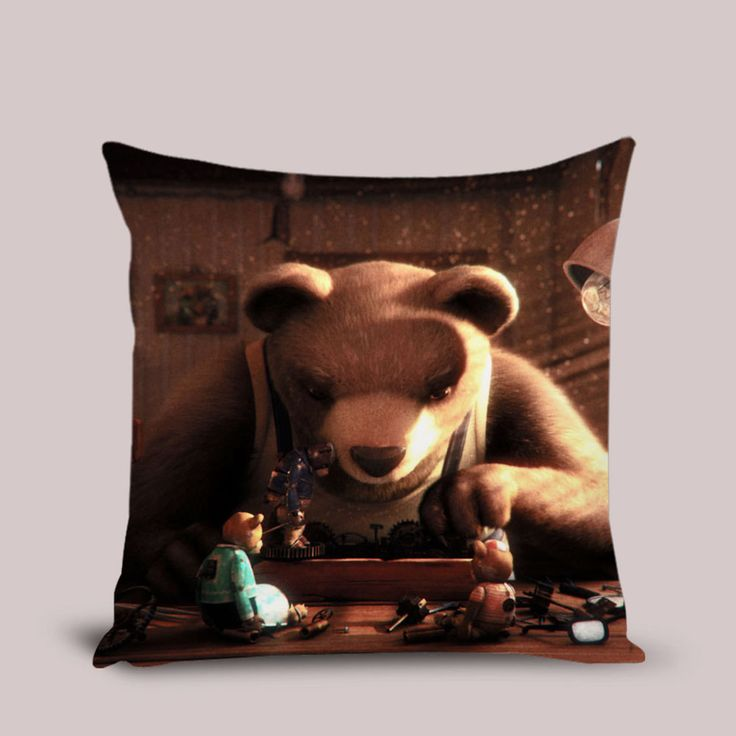 Bear Story Pillow Cover Throw Pillowcase 16x16 18x18 20 inches Cushion Case #Handmade #TwinSides