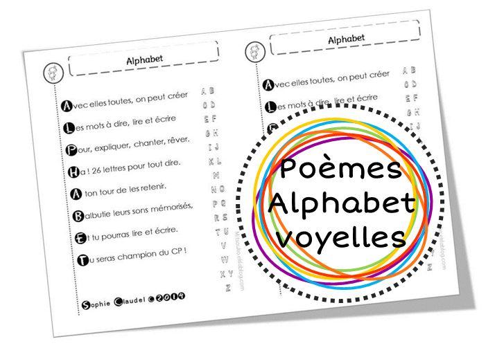 Poèmes alphabet, lettres et voyelles - Mitsouko au CP