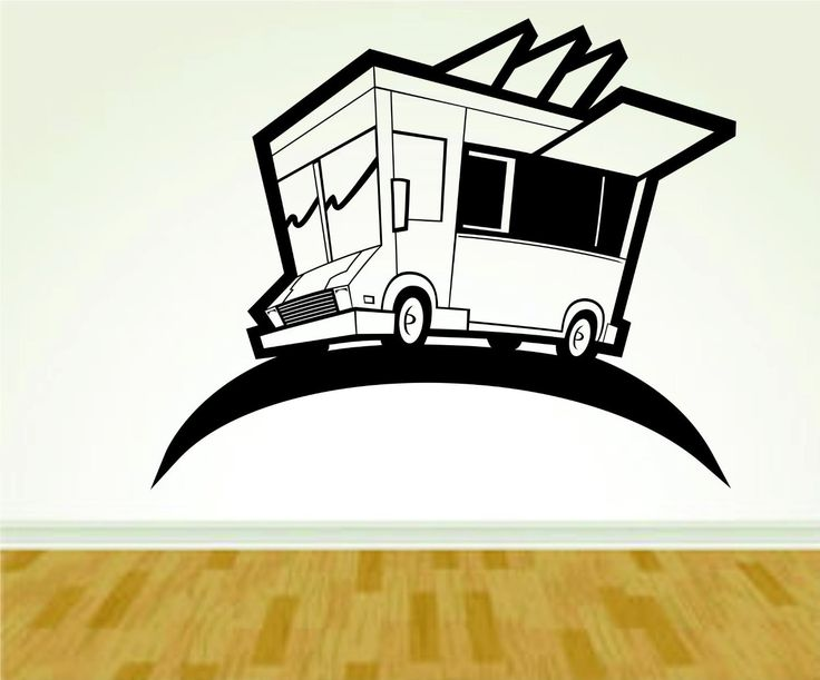 Food Truck Chef Food Service Worker Vinyl Decal Sticker Wall Boy Girl