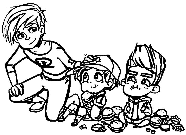 Danny Phantom Coloring Page 49