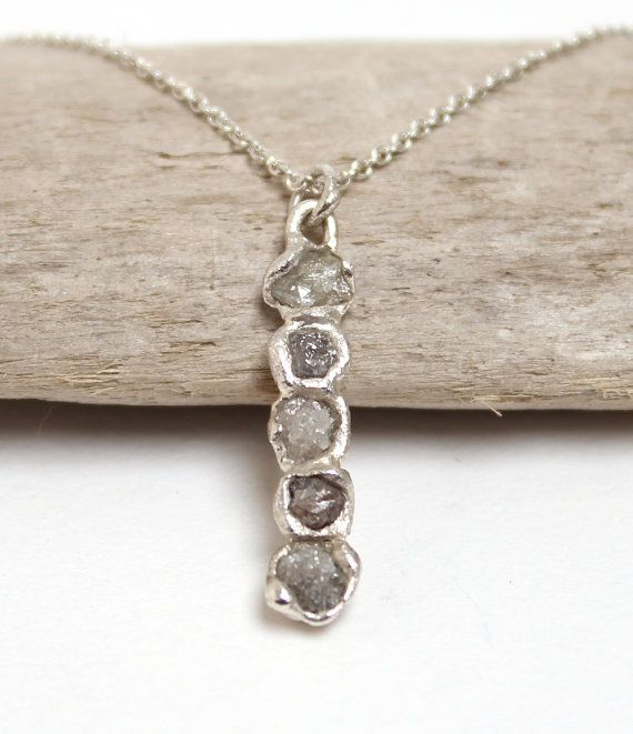 Hey, I found this really awesome Etsy listing at https://www.etsy.com/listing/202069960/rough-diamond-bar-pendant-necklace-rough