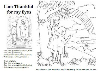 19 I am thankful for my eyes