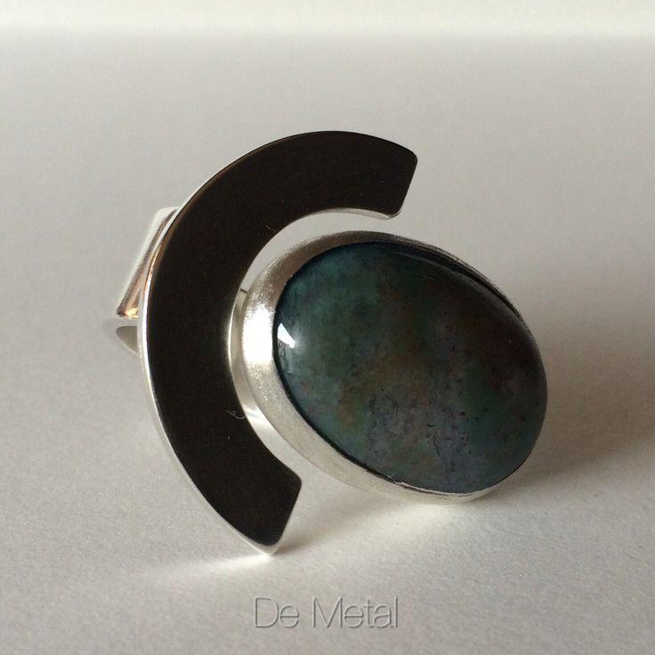 De plata y piedra ..... ( silver and stone ..... Ring )