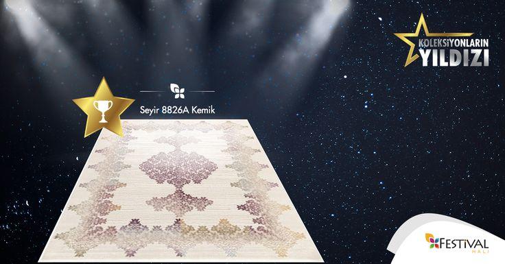 Sizin oylarınızla belirlenen koleksiyonlarımızın yeni yıldızı. Seyir! #carpet #collection