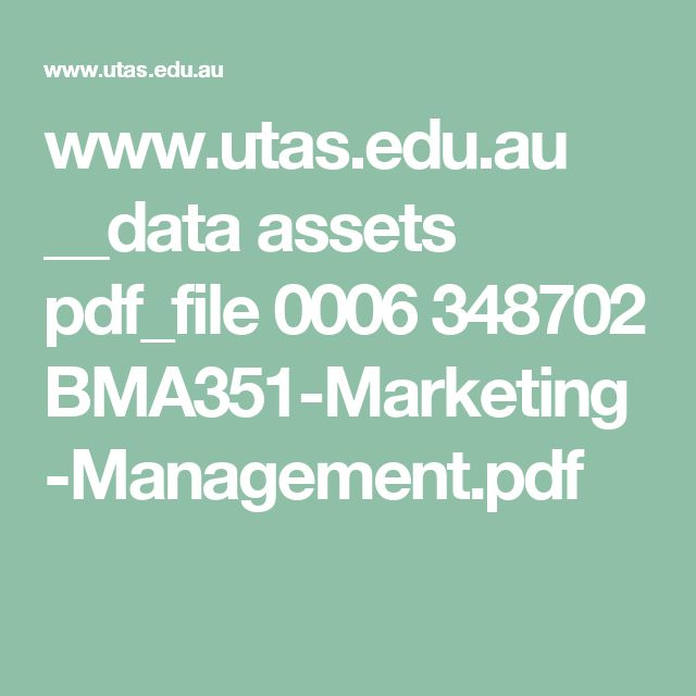 www.utas.edu.au __data assets pdf_file 0006 348702 BMA351-Marketing-Management.pdf
