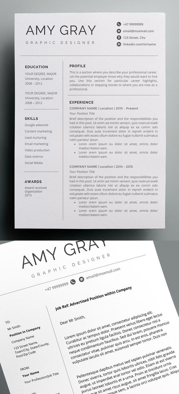 30 Best Word Resume Templates With Images Resume Design