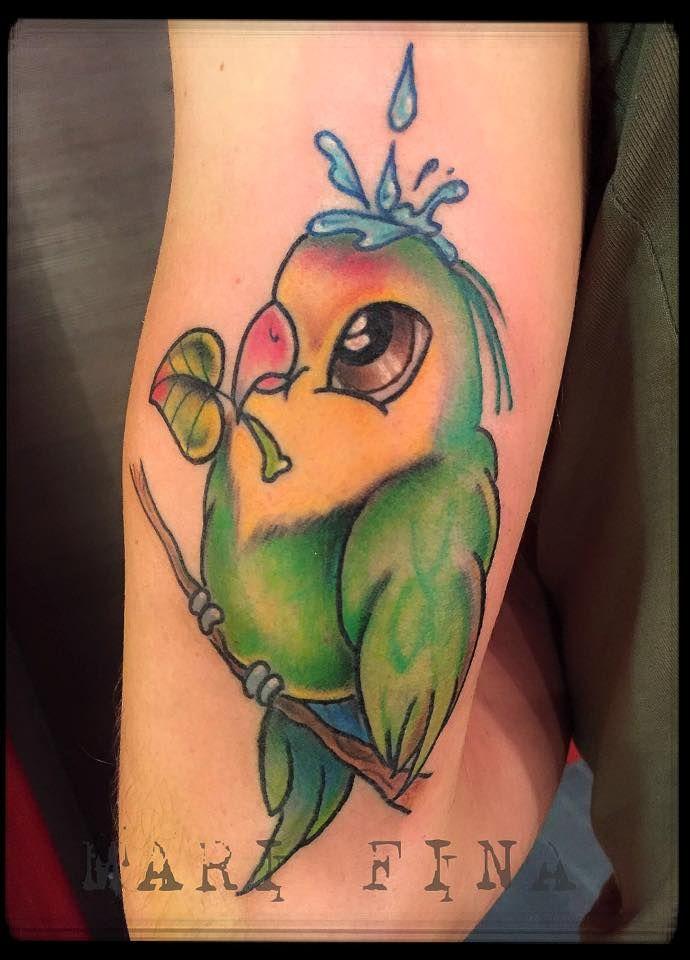 Tattoo Artist: Mari Fina  Tatuaggi a colori http://www.subliminaltattoo.it/prodotto.aspx?pid=01-TATTOO&cid=18  #cartoontattoo   #marifinatattooartist   #femaletattooartist   #subliminaltattoofamily   #tattoolife   #tattooenergy   #pappagallo   #parrottattoo   #colortattoo   #tattoo