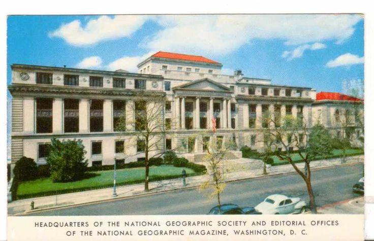 Undated Unused Postcard Headquarters National Geographic Society Washington DC
