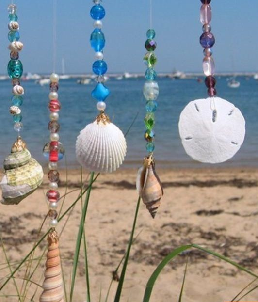 Shells and beading sun catchers & ornaments
