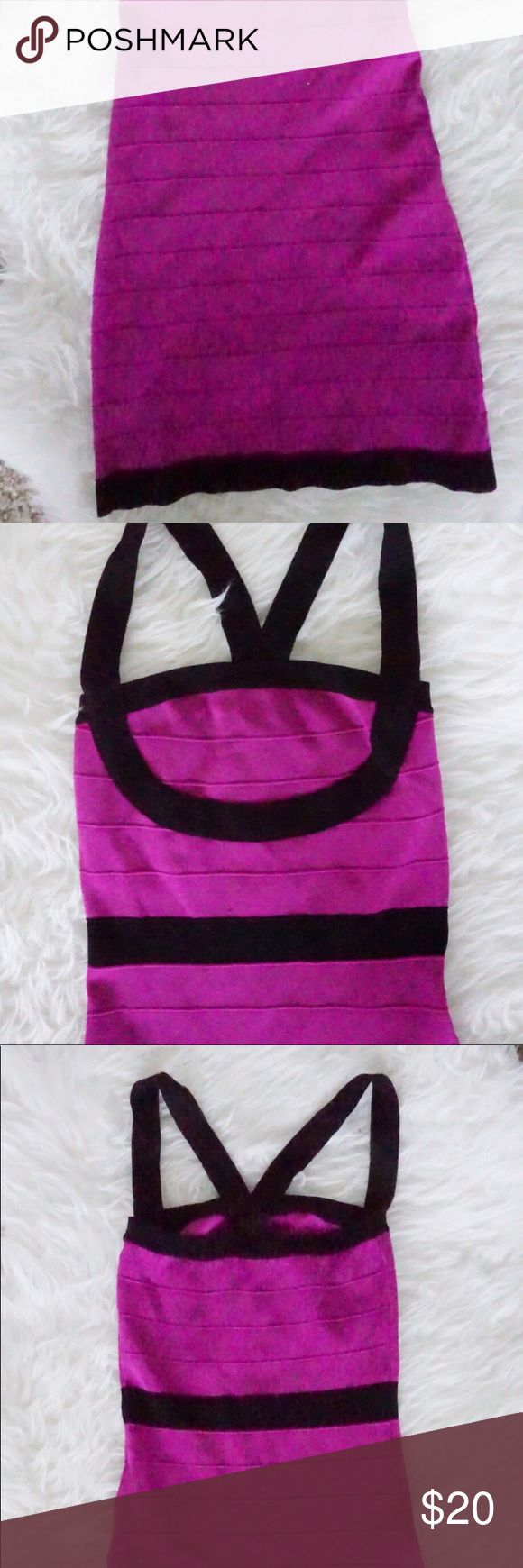 Bandage purple dress Bandage purple dress - perfect for a night out!  Only worn once ❤️ Dresses Mini