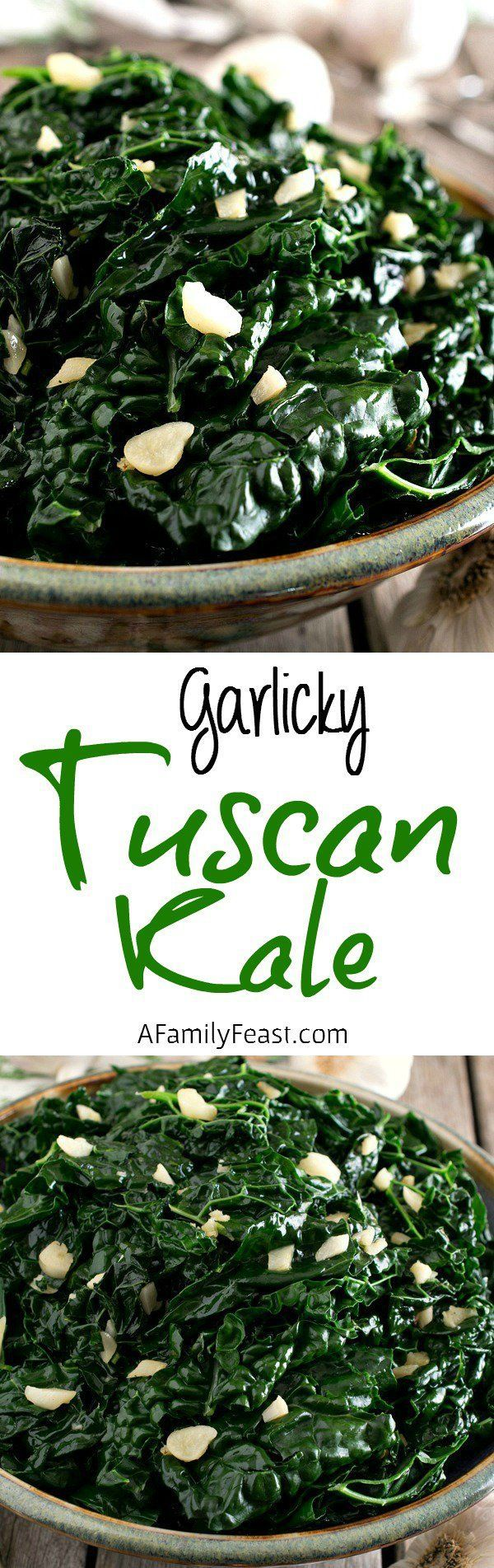 This Garlicky Tuscan Kale is a quick and easy side dish that is delicious with any meal!