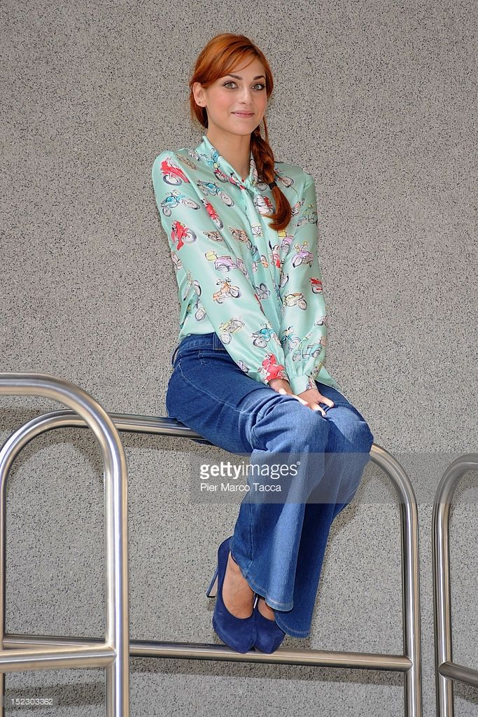 Miriam Leone attends the 'Wikitaly' Italian TV show photocall on September 18, 2012 in Milan, Italy.