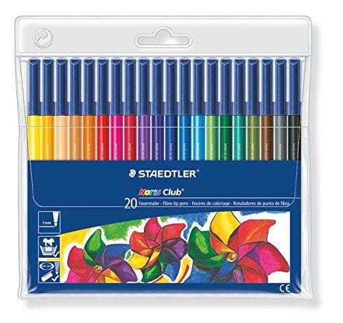 Staedtler 326WP20 Noris Club Fibre Tip Pen in Wallet - 20 Assorted Colours Staedtler http://www.amazon.co.uk/dp/B001ARYGS4/ref=cm_sw_r_pi_dp_Nhl6wb1AK0RDM