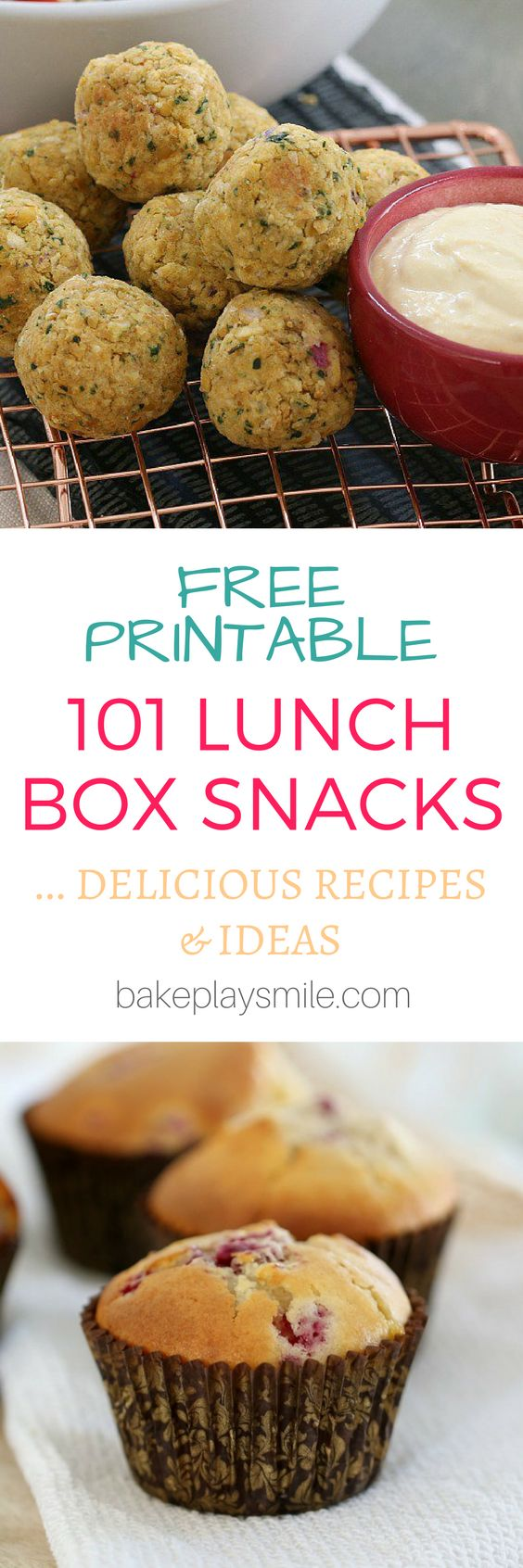 101 lunch box snacks and recipes… these are the very best of the best! Including 50 sweet recipes and 51 savoury recipes (and not a sandwich in sight!). And there's also a free printable to pop onto your kitchen fridge! #lunch #box #recipes #snacks #healthy #best #thermomix #conventional #easy #sweet #savoury