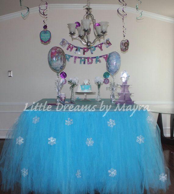 Frozen Inspired Table Tutu Skirt By LittledreamsbyMayra