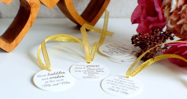 Wedding bubble tags, tags for bubbles, celebration tags, their love will grow, every love story is beautiful, blow bubbles and wishes by TPDWeddingStationary on Etsy