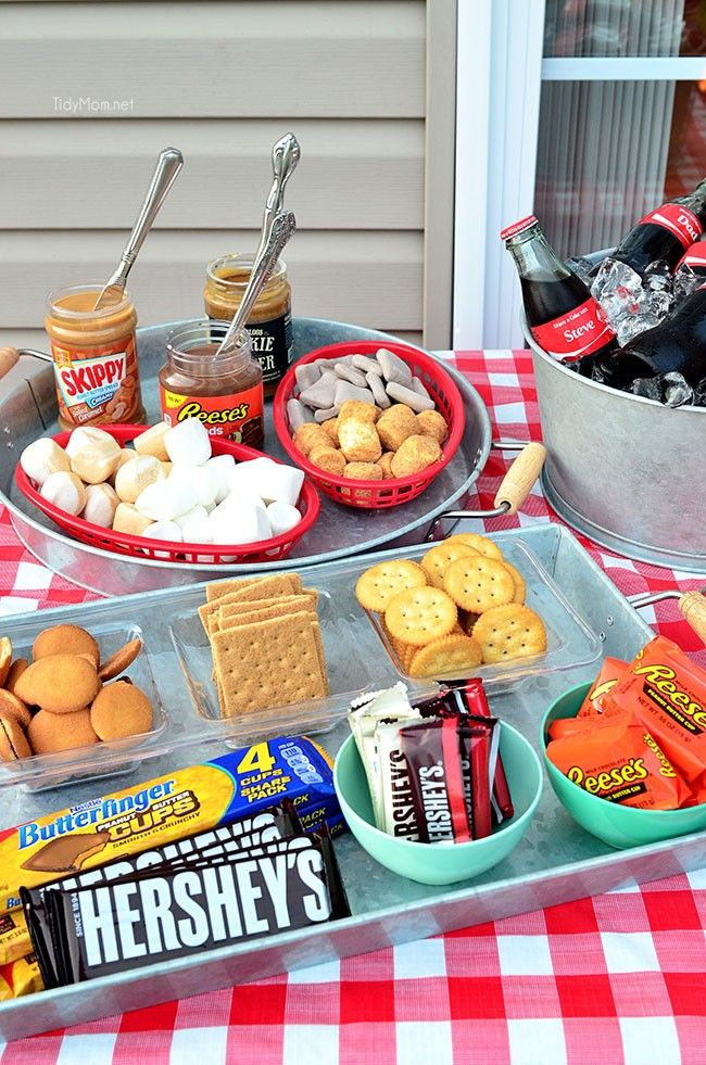 Dont just serve the tradition s'mores......go with a Gourmet S'mores Party and let them create their own flavor combinations.  Details at TidyMom.net