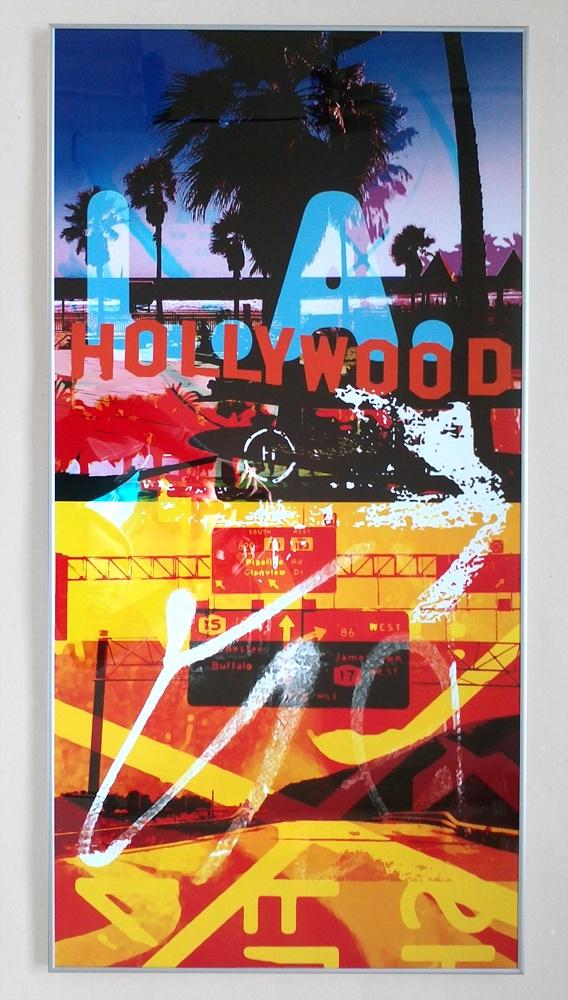 Hollywood - reprodukcja w srebrnej aluminiowej ramie