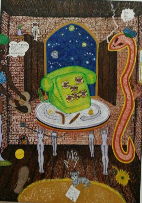 Trevor Nickolls, Dreamtime Calling from Gondolaland, 1990, synthetic polymer on canvas.