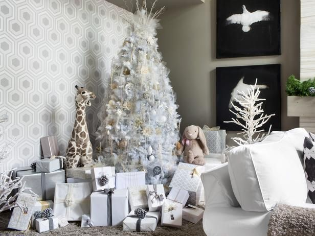 Tips for decorating your tree in all-white:  http://www.hgtv.com/handmade/10-tips-for-creating-an-elegant-all-white-christmas-tree/pictures/index.html?soc=pinterest: White Christmas Trees, Elegant Christmas Trees, Decoration, Gift Ideas, Living Room, Holidays, Christmas Decorating Ideas, All White Christmas