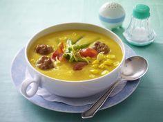 Unser beliebtes Rezept für Bohnen-Mais-Suppe mit Brätbällchen und mehr als 55.000 weitere kostenlose Rezepte auf LECKER.de.