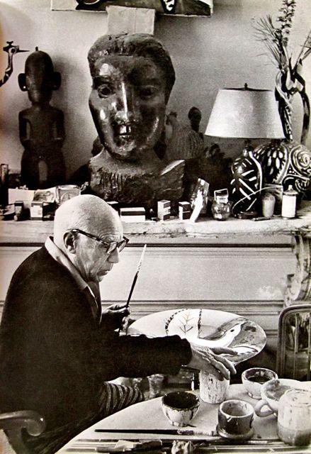 Picasso in his studio