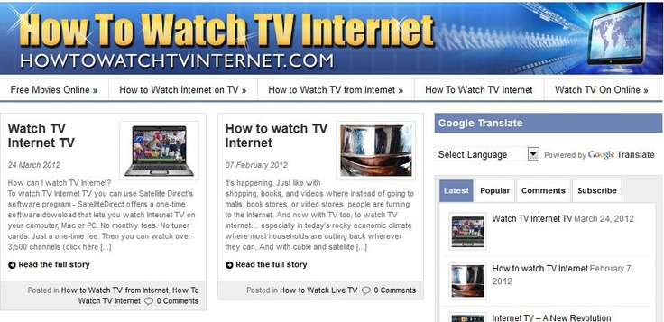 http://www.howtowatchtvinternet.com/    How To Watch TV Internet, How to Watch TV Online, and How to Watch Live TV    How To Watch TV Internet, How to Watch TV Online, and How to Watch Live TV on the Internet: Watch TV from Internet with 3,500 channels, 250 movie channels, sports, news, weather, and FREE MOVIES ONLINE and Free TV - Free Online TV using Windows TV.    how to watch tv internet, watch tv online, watch live TV, tv on the internet, watch tv from internet