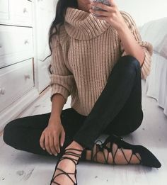 #fall #fashion / turtleneck knit