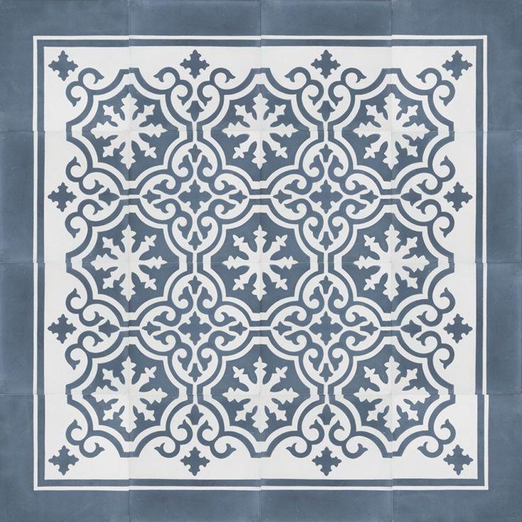 UN Azule 21 Border Portuguese cement tile Designtegels.nl