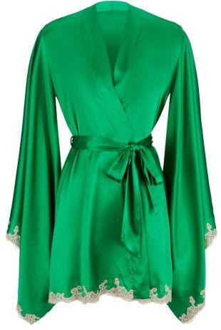 Agent Provocateur Molly Kimono in Green #lingerie                              …