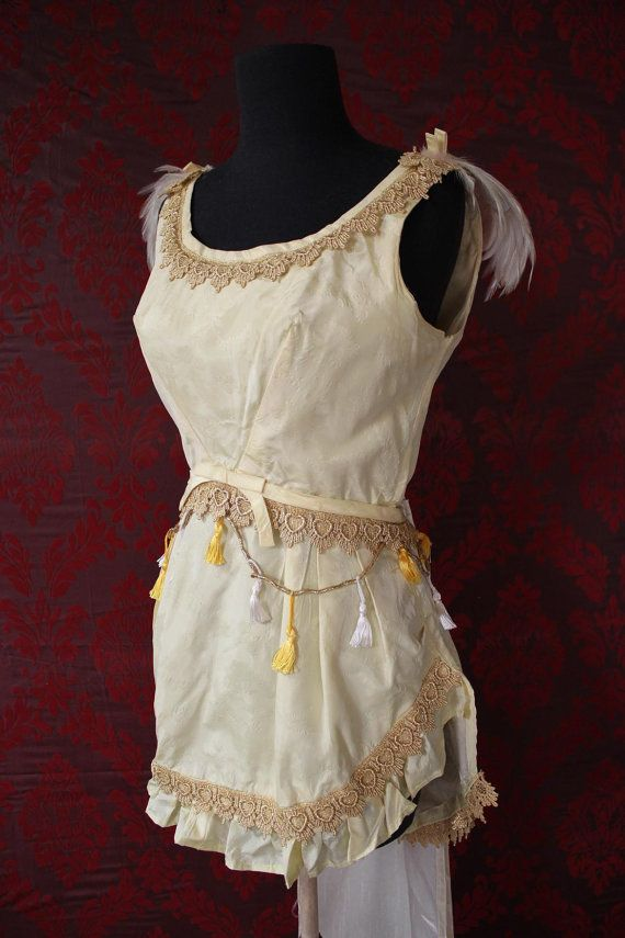 The Canary - Vintage Trapeze/ Circus Girl Costume. Size 6. $85.00, via Etsy.