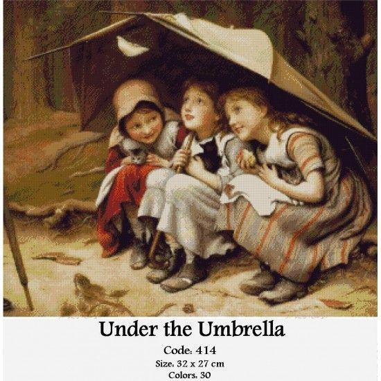 Cross Stitch Set Under the Umbrella http://gobelins-tapestry.com/portraits/861-under-the-umbrella.html