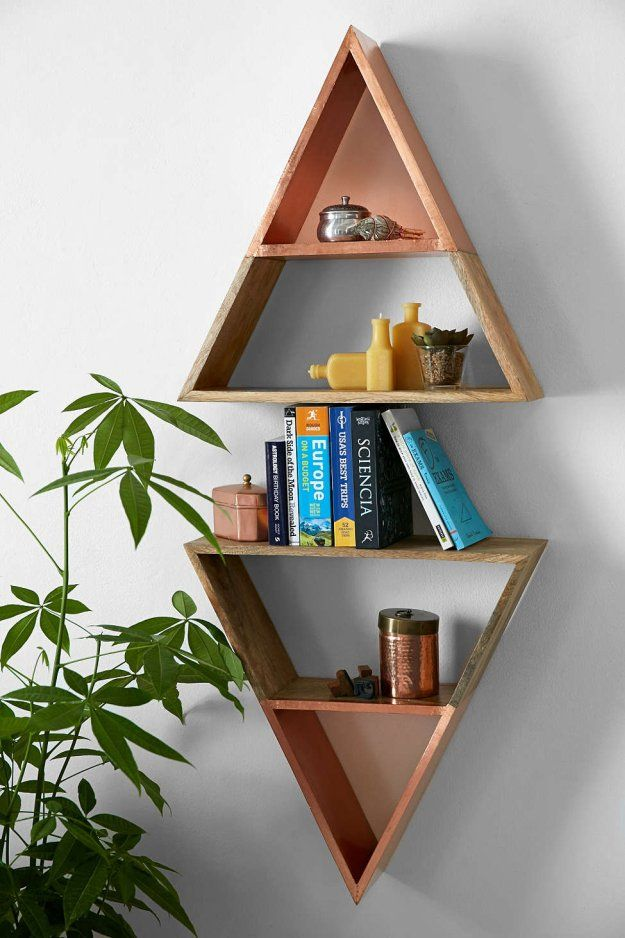 Pyramid Shelves | 21 Geometric Furniture Ideas To Spruce Up Your Interiors