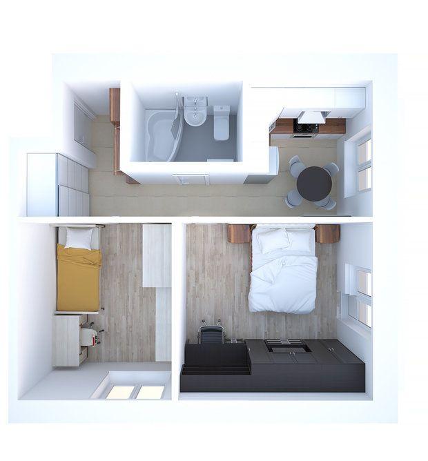 Площадь двухкомнатной квартиры в типовом доме серии И-209 почти 38 квадратных метров. И сегодня мы рассмотрим варианты планировки пространства для разных жильцов