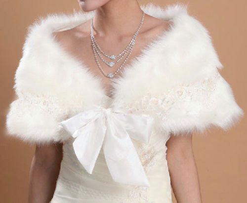 2016 new man-made fur shoulder shrug short jacket Bridal Shawl accessories