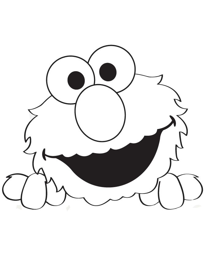 Peek a boo elmo coloring page hm coloring pages elmo for Printable elmo cake template