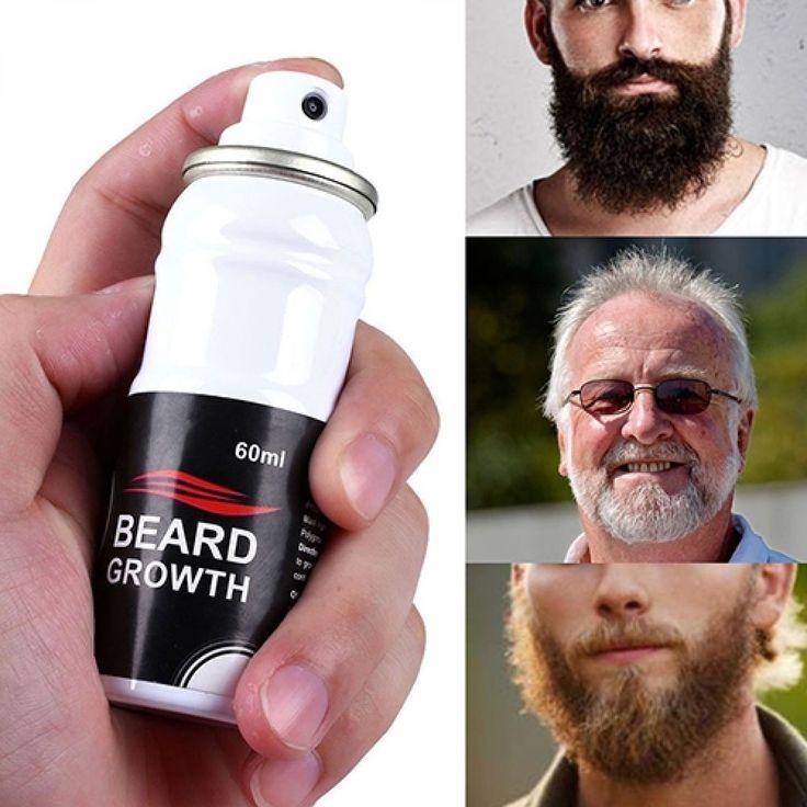Beard Growth Spray Stimulator Grow Natural Hair Grower Fast Beard Boost 60ml #BeardGrowth
