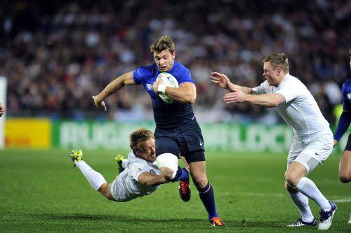 Vincent CLERC lors de France-Angleterre de rugby coupe du monde 2011