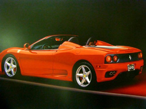 Simply Wow! Give your home a stylish touch with this hot red Ferrari 360 Modena spider sports car art print poster. This wall poster offers eye-catching appeal to your decor style. You will surely get compliments from your guests for this stunning addition. It goes with any decor style and ensures durable quality with high degree of color accuracy.