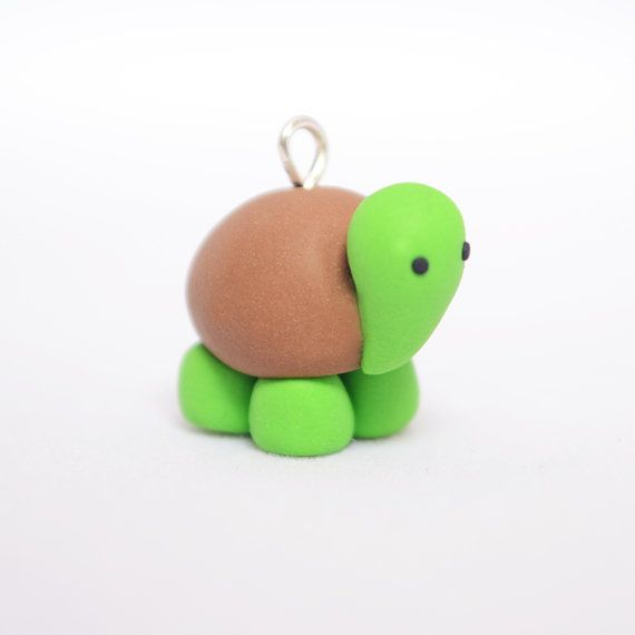 Cute turtle kawaii tortoise charm kawaii polymer clay for Cute things to make out of clay