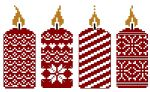 noël candles cross stitch - free