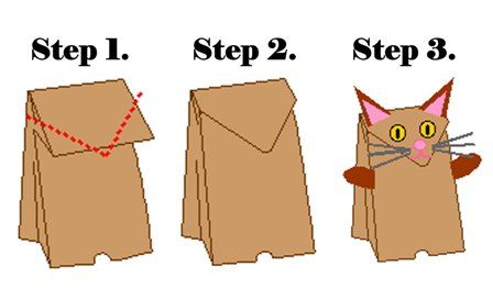 Paper Bag Cat Puppet - Crafts - Earlybird Activities - Earlybird Club - Sticky TV - Shows - Kids - TV - FOUR